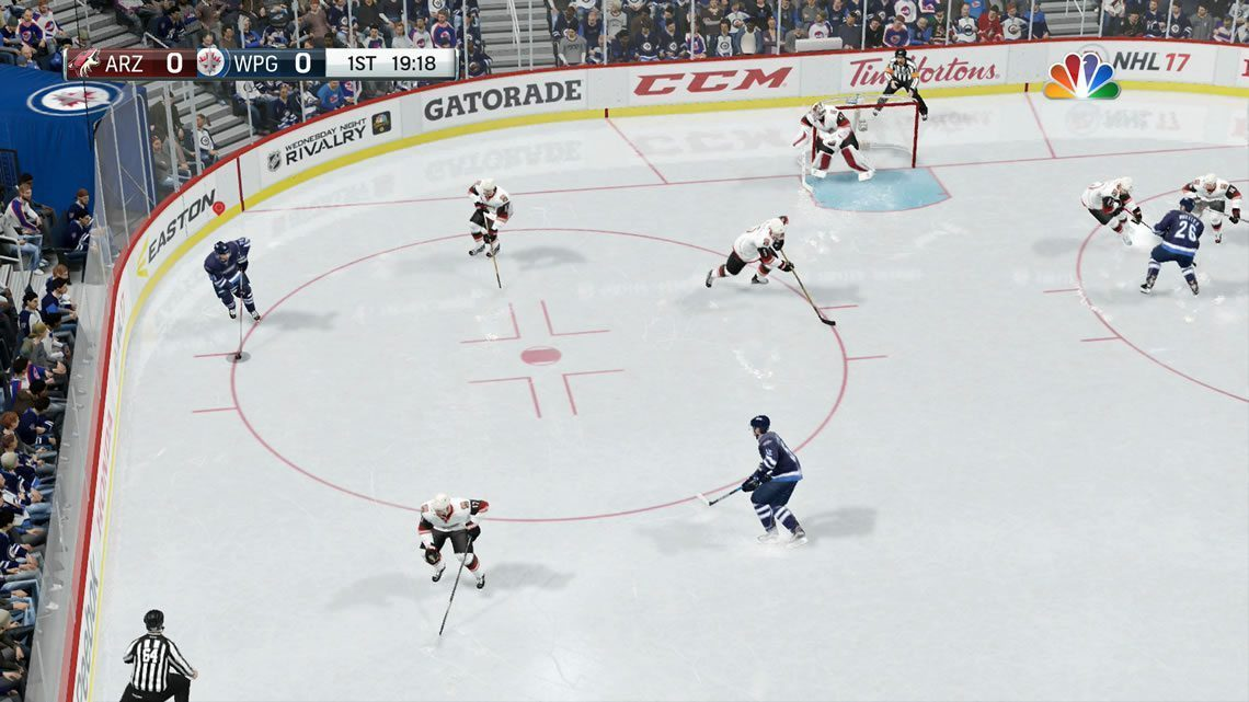 Dynamic Low offensive zone view in EA Sports NHL