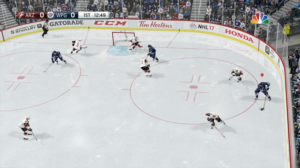 Dynamic Medium NHL 17 angle in the offensive zone