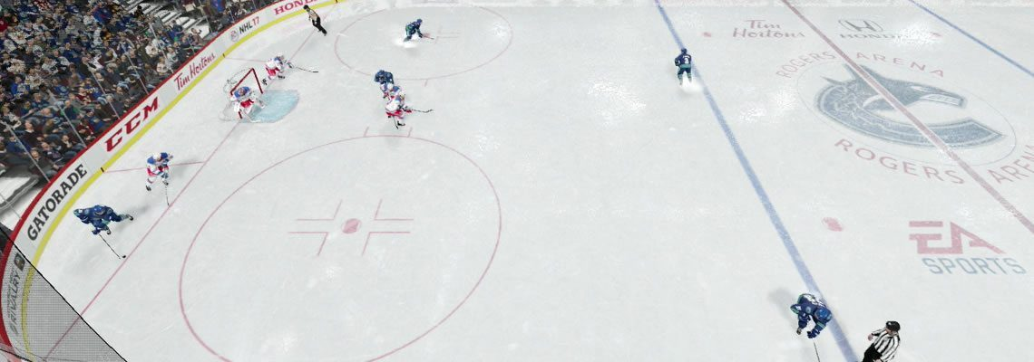 work the puck to the defense for point shots.