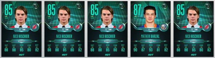 Flash Forward HUT player cards