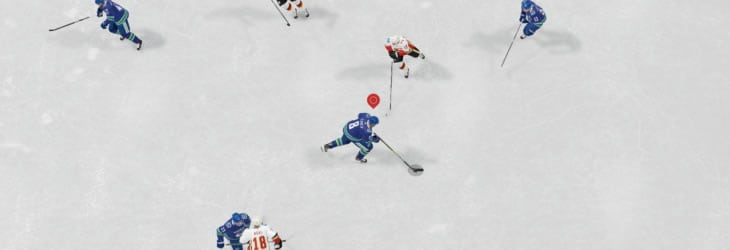 The small player indicator in EA Sports NHL