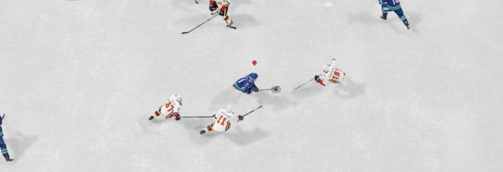 The smallest player indicator in EA Sports NHL