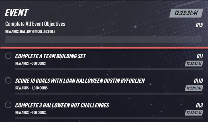 Complete Halloween event objectives to earn more rewards